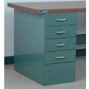 """Stackbin 4 Drawer Pedestal, 4-DCP4-23-BK, 15-1/2""""W X 30""""D X 30-1/4""""H, Black"""