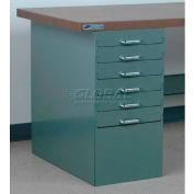 "Stackbin 6 Drawer Pedestal, 4-DCP6-23-BL, 15-1/2""W X 30""D X 30-1/4""H, Blue"