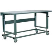"Stackbin Workbench, 2500 Series, Steel Square Edge, 72""W X 30""D, Blue"