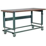 "Stackbin Workbench, 2500 Series, Hardboard, 72""W X 36""D, Gray"