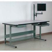 "Stackbin Computer Desk, 72""W x 30""D x 29-1/2""H, Gray"