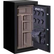 """Stack-On Gun Safe A-40-MB-E-S - 40 Gun Cap. Electronic Lock 29-1/4""""W x 25-1/2""""D x 55""""H Black Matte"""
