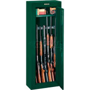 "Stack-On 8 Gun Steel Security Cabinet GCG-908-DS -21""W x 10""D x 55""H, Green"
