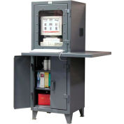 "Strong Hold Extra Workspace Computer Cabinet 26"" x 24"" x 72"""