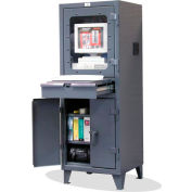 "Strong Hold Topview Computer Cabinet with 2 Adj. Shelves 26"" x 24"" x 72"""