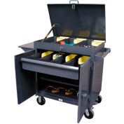 Strong Hold Products 3-TC-LV-241-1DB Lift-Up Lid Tool Cart