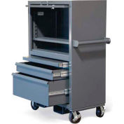 "Strong Hold Mobile Cabinet w/Drawers & Lift-Up Lid 3.24.4-221-1SOS-2DB-FLP-CA - 38""W x 22""D x 60""H"