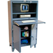 "Strong Hold Deluxe Computer Cabinet 36"" x 20"" x 66"""