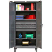 Strong Hold® Heavy Duty Cabinet 36-243-3DB - With Drawers 36 x 24 x 78, 1900 Lb. Shelf Capacity