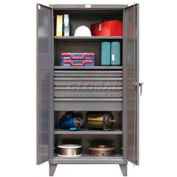 Strong Hold® Heavy Duty Cabinet 36-243-4DB - With Drawers 36 x 24 x 78, 400 Lb. Shelf Capacity