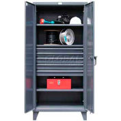 Strong Hold® Heavy Duty Cabinet 36-243-5DB - With Drawers 36 x 24 x 78, 3 Adjustable Shelves