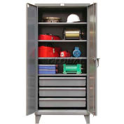Strong Hold® Heavy Duty Cabinet 36-244-3DB - With Drawers 36 x 24 x 78, 4 Adjustable Shelves