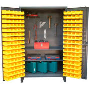 "Strong Hold Upright Tool Storage Cabinet with 94 Bins 36-BS-PB-242 - 36""W x 24""D x 78""H"