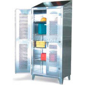 Strong Hold® Heavy Duty Cabinet 36-V-244SS - Stainless Steel with Ventilated Doors 36 x 24 x 78