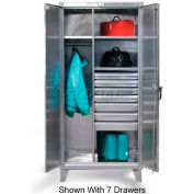 Strong Hold® Combination Cabinet 36-W-244-4DB-SS - Stainless Steel With 4 Drawers 36 x 24 x 78