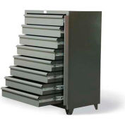 "Strong Hold Eight-Drawer Shelving Unit with Lock Bar 3.65-CSU-260-8DB-LB - 42""W x 26""D x 59""H"