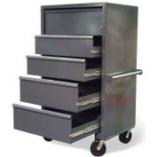 "Strong Hold Mobile Drawer Cabinet with Lock-In-Out Slides 3.65.6-320-5DB-FLP-CA - 42""W x 32""D x 76""H"