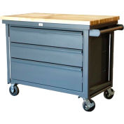 Strong Hold Products 4.53.7-TC-300-3DB-MT All-Welded Steel Rolling Cart