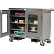 Strong Hold Products 4-TC-LD-243-FLP Clearview Mobile Work Cart with Forklift Pockets