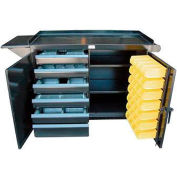 Strong Hold Products 4-TC-VS-242-6/5DB-28B-VD Electrician / Carpenter Tool & Maintenance Cart