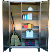 Strong Hold® Heavy Duty Closet Cabinet 45-BC-243-SS - Stainless Steel 48 x 24 x 66