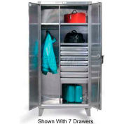 Strong Hold® Combination Cabinet 45-W-243-4DB-SS - Stainless Steel With 4 Drawers 48 x 24 x 66