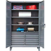 Strong Hold® Heavy Duty Storage Cabinet 46-244-6/5DB - With Drawers 48 x 24 x 78