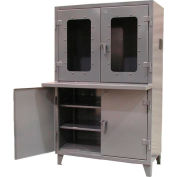 "Strong Hold Clear View Computer Cabinet with Welded Shelf 48""W x 24""D x 78""H"