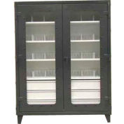 Strong Hold® Heavy Duty On-Site See-Thru Storage Cabinet 46-LD-244-6/5DB-24DIV - 48 x 24 x 78