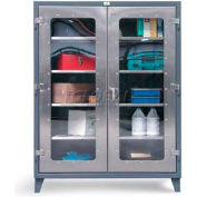 Strong Hold® Heavy Duty Clearview Model 46-LD-244SS - Stainless Steel 48 x 24 x 78