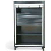 """Strong Hold Heavy Duty Roll-Up Door Cabinet with Drawers 46-RUDD-241-1PH-3DB - 48""""W x 24""""D x 78""""H"""