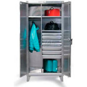 Strong Hold® Combination Cabinet 46-W-243-7DB-SS - With 7 Drawers 48 x 24 x 78
