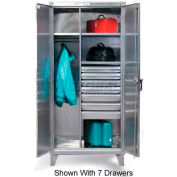 Strong Hold® Combination Cabinet 46-W-244-4DB-SS - Stainless Steel With 4 Drawers 48 x 24 x 78