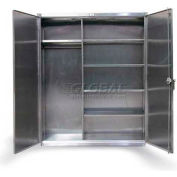Strong Hold® Heavy Duty Combination Cabinet 46-W-245-SS - Stainless Steel 48 x 24 x 78