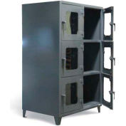 """Strong Hold Six Compartment Clearview Cabinet 4.66.9-6D-LD-240 - 54W x 24D x 87""""H"""
