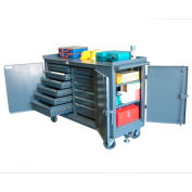 Strong Hold Products 5-TC-3D-242-12/5DB Ultimate Multiple-Purpose Maintenance Cart