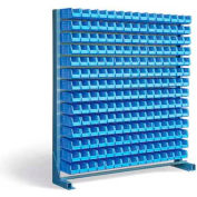 Strong Hold All Welded 12 Gauage Singel-Sided Bin Rack with 210 Bins  5.105.1-BR-210-1S