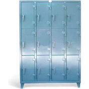 "Strong Hold Personal Locker 5.16.11-24-3TMT Triple Tier 12-Compartment - 61""W x 24""D x 89""H"