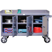 Strong Hold Products 52.10-3MS-301-SG-CA Mobile Work Bench with 3 Locking Doors