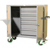 Strong Hold Products 54-W-240-6DB-CA-VS Mobile Wardrobe Closet with Drawers