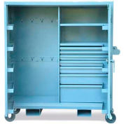"Strong Hold Mobile Cabinet with Door Pockets and Hooks 55-242-7/5DB-CA-FLP - 60""W x 24""D x 68""H"