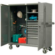 Strong Hold® Heavy Duty Drawer Mobile Job Storage 55-242-7/5DB-CA - 60 x 24 x 68