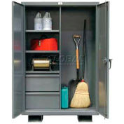 Strong Hold® Heavy Duty Janitorial Job Storage 55-BC-243-2DB-FLP - 60 x 24 x 64