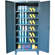 Strong Hold® Heavy Duty Storage Cabinet 6-246PH/42VD - With Steel Multi-Dividers 60 x 24 x 78