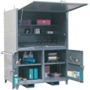 Strong Hold® Heavy Duty Portable Construction Storage Cabinet 56.5-3D-423JSB - 60 x 42 x 80