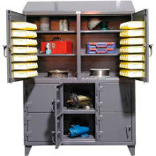 Strong Hold® Compartment & Bin Storage Cabinet 56-8.54B-214SLG - Multiple User 60 x 21 x 86-5/8
