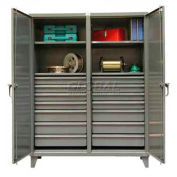 Strong Hold® Independent Locking Cabinet 56-DS-244-14DB - Double Door w/14 Drawers 60 x 24 x 78