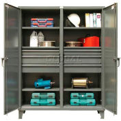 Strong Hold® Independent Locking Cabinet 56-DS-246-6DB - Double Door w/6 Drawers 60 x 24 x 78