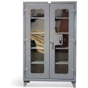 """Strong Hold Heavy Duty Keypad See Thru Door Cabinet 56-LD-244-KP - 60""""W x 24""""D x 78""""H"""