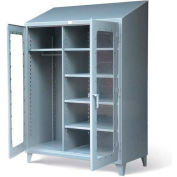 "Strong Hold Wardrobe Cabinet with See-Thru Doors 56-LDW-245 - 60W x 24D x 78""H"